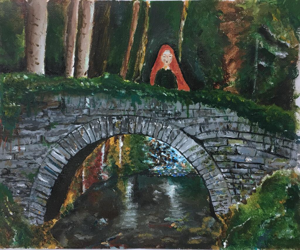 On the Bridge (Grade 9) Acrylic on canvas