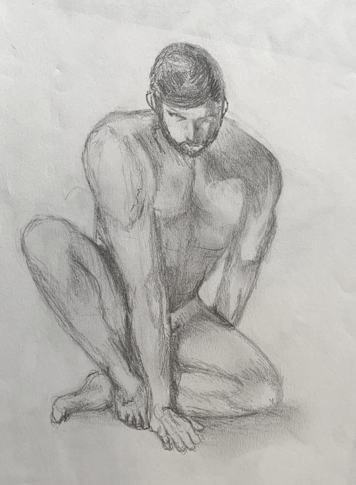 Figure Drawing (Grade 6) - pencil