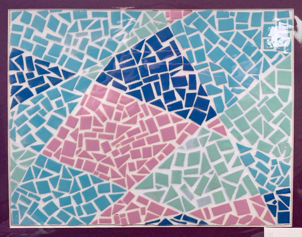 Fractured Blue (Grade 6) Craft foam, spackle