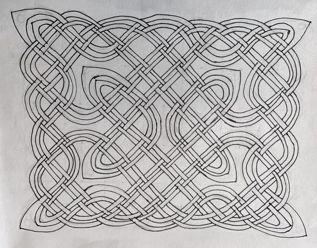 Knotwork Panel (Grade 7) - pencil, ink