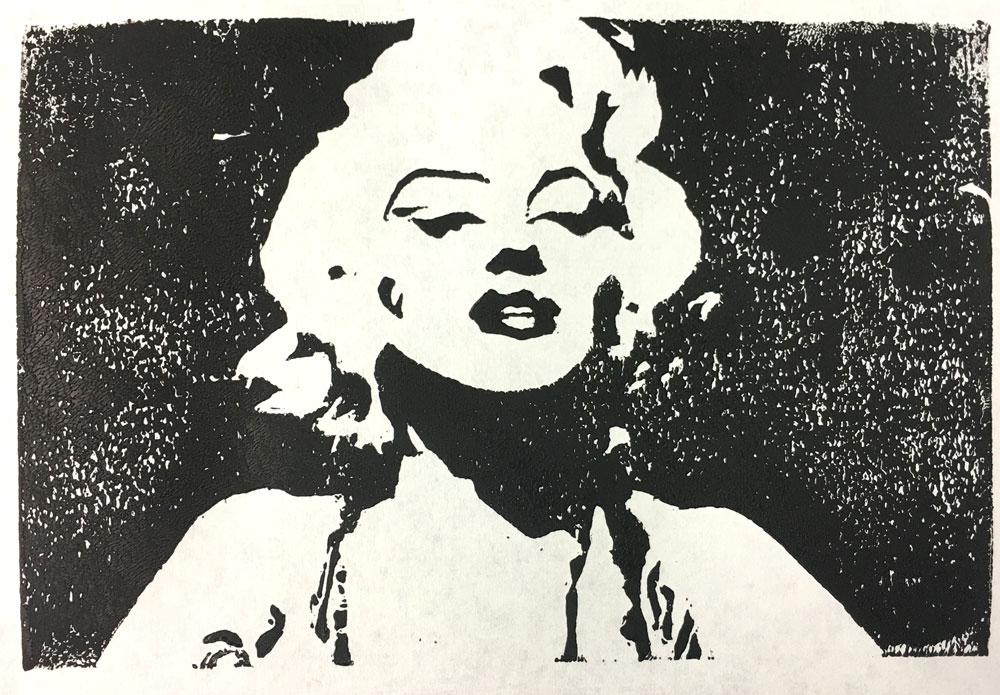 Marylin (Grade 9) block print