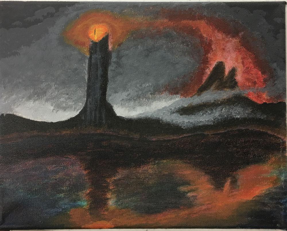 Mordor (Grade 9) Acrylic on canvas