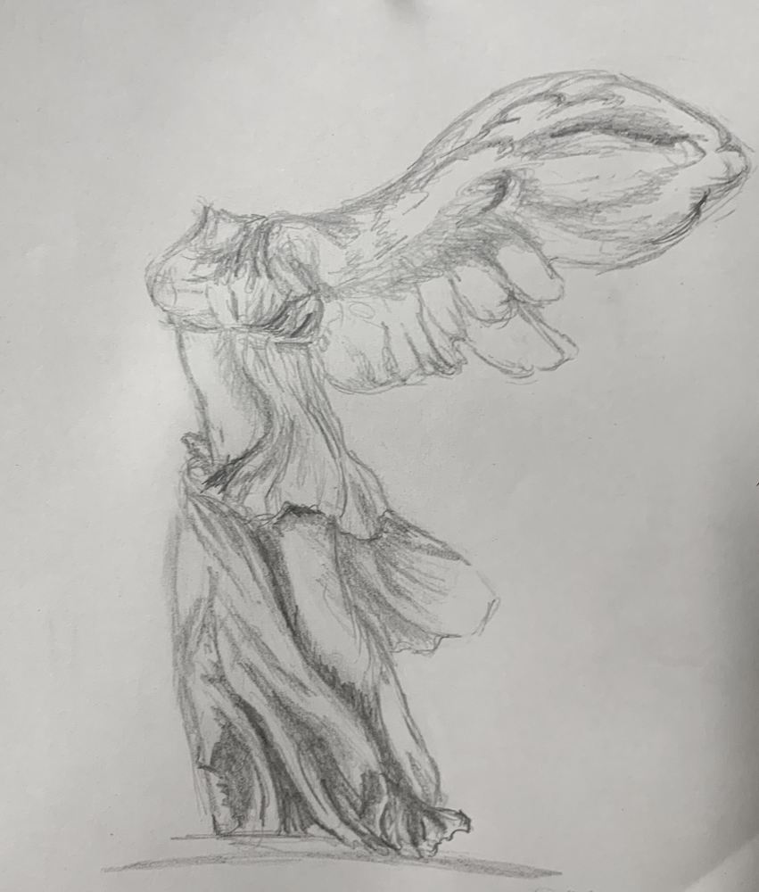 Nike of Samothrace (Grade 7) - pencil