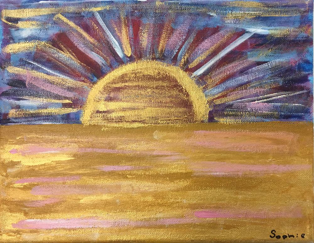 Sunrise (Grade 7) Acrylic on canvas